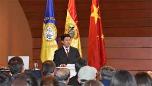 Embajador de China en Bolivia, Liang Yu.